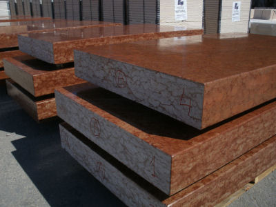 "Polished Red Marble Benches ""Al-Andalus"""