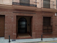 Facade of private house in Antequera with Red Marble