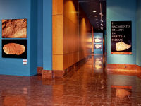 Red Marble Floor in Provincial Archaeology Museum of Alicante