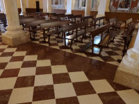 Red Marble Floor at the Parish Church in Los Corrales