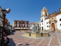 Square with Red Marble in Ronda